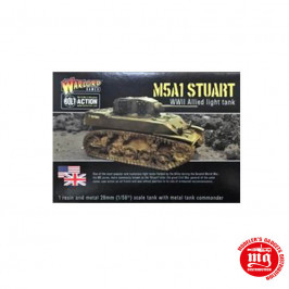 M5A1 STUART WARLORD GAMES BOLT ACTION WGB-AI-119 ESCALA 1:56
