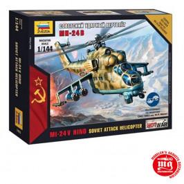 SOVIET ATTACK HELICOPTER MI 24V HIND ZVEZDA 7403