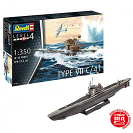GERMAN SUBMARINE TYPE VII C/41 REVELL 05154