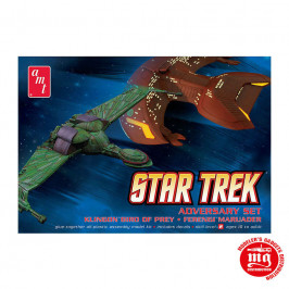 STAR TREK ADVERSARY SET KLINGON BIRD OF PREY FERENGI MARAUDER AMT 752