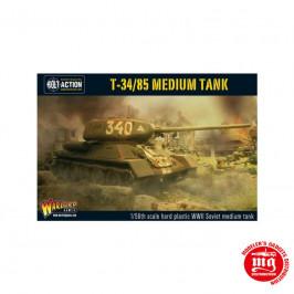 T34 85 MEDIUM TANK WARLORD GAMES BOLT ACTION WGB-RI-500 ESCALA 1:56