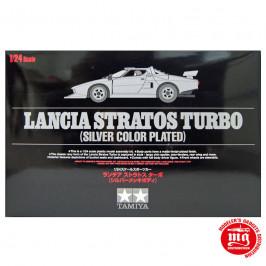 LANCIA STRATOS TURBO SILVER COLOR PLATED TAMIYA 25418