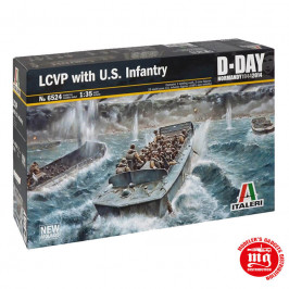 LCVP WITH U.S. INFANTRY ITALERI 6524