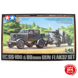 GERMAN HEAVY TRACTOR SS-100 AND 88 MM GUN FLAK37 SET TAMIYA 37027 ESCALA 1:48