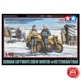 GERMAN LUFTWAFFE CREW WINTER WITH KETTENKRAFTRAD TAMIYA 32412 ESCALA 1:48