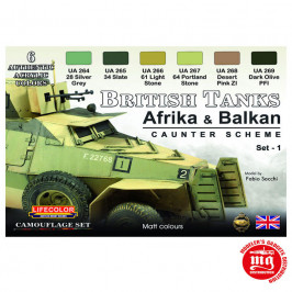 BRITISH TANKS AFRIKA ANS BALKAN LIFECOLOR CS43