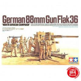 GERMAN 88 MM GUN FLAK36 CAMPAÑA NORTE DE AFRICA TAMIYA 35283