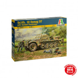 Sd.Kfz.10 DEMAG D7 WITH GERMAN PARATROOPS ITALERI 66561