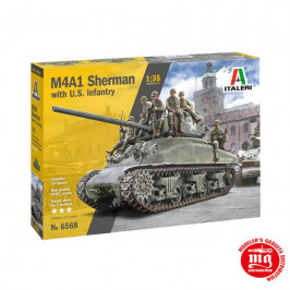 M4A1 SHERMAN WITH U.S. INFANTRY ITALERI 6568