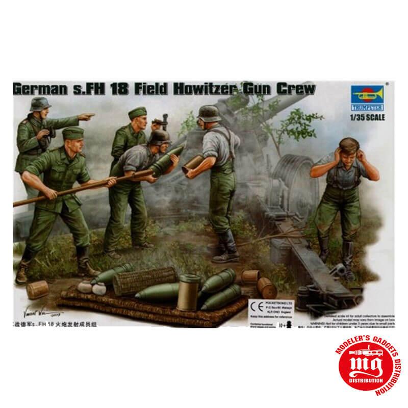 GERMAN s.FH 18 FIELD HOWITZER GUN CREW TRUMPETER 00425