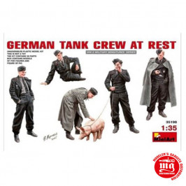 GERMAN TANK CREW AT REST MINIART 35198