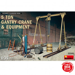 5 TON GANTRY CRANE AND EQUIPMENT MINIART 35589