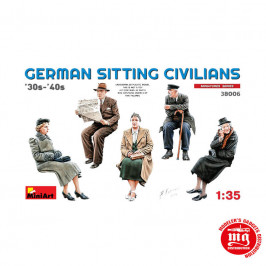 GERMAN SITTING CIVILIANS MINIART 38006
