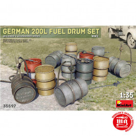 GERMAN 200L FUEL DRUMS MINIART 35597