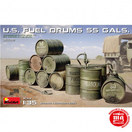 US FUEL DRUMS 55 GALS MINIART 35592