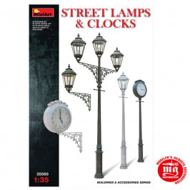 STREET LAMPS AND CLOCKS MINIART 35560