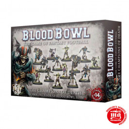THE CHAMPIONS OF DEATH SHAMBLING UNDEAD BLOOD BOWL TEAM 200-62