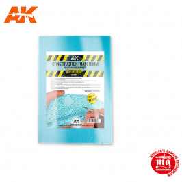 DOS HOJAS DE ESPUMA AZUL DE CONSTRUCCION 10 MM DE ALTA DENSIDAD 195X295 MM AK8097