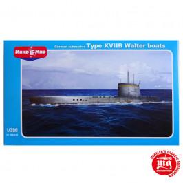 SUBMARINO ALEMAN TYPE XVIIB WALTER BOATS MIKROMIR 350-018