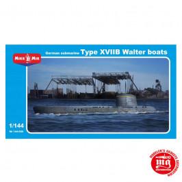 SUBMARINO ALEMAN TYPE XVIIB WALTER BOATS MIKROMIR 144-006