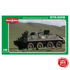 SOVIET ARMOURED PERSONNEL CARRIER BTR-60PB MIKROMIR 48-012 ESCALA 1:48