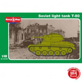 SOVIET LIGHT TANK T-80 MIKROMIR 48-009 ESCALA 1:48
