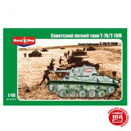 SOVIET LIGHT TANK T-70/T-70M MIKROMIR 48-007
