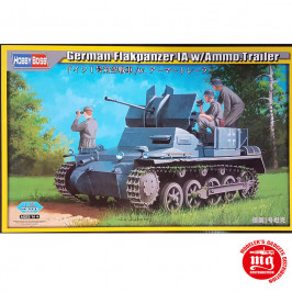 GERMAN FLAKPANZER IA WITH AMMO TRAILER HOBBY BOSS 80147