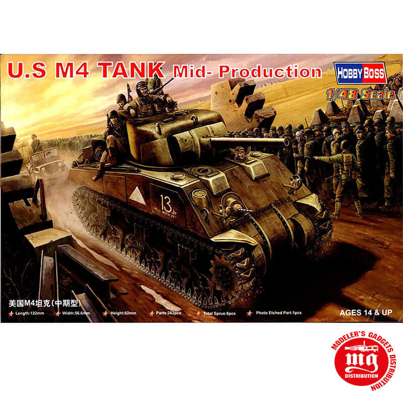 U.S M4 TANK MID PRODUCTION HOBBY BOSS 84802