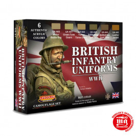 BRITISH INFANTRY UNIFORMS WWII LIFECOLOR CS41