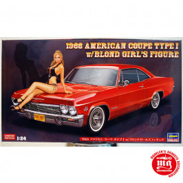 1966 AMERICAN COUPE TYPE I WITH BLOND GIRL´S FIGURE HASEGAWA SP402