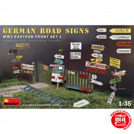 GERMAN ROAD SIGNS WWII EASTERN FRONT SET 1 MINIART 35602