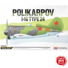 POLIKARPOV I-16 TYPE 24 ACADEMY 12314