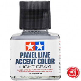PANEL LINE ACCENT COLOR LIGHT GRAY TAMIYA 87189