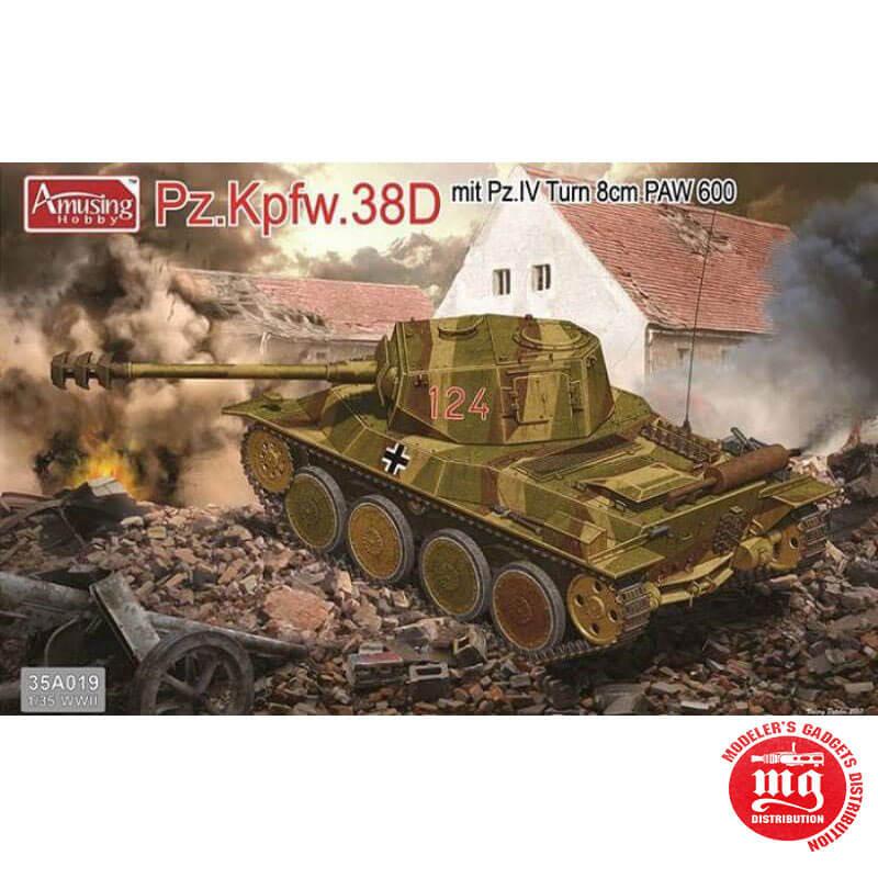 Pz Kpfw 38D MIT Pz IV TUM 8cm PAW 600 AMUSING HOBBY 35A019
