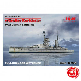 WWI GERMAN BATTLESHIP KRONPRINZ ICM S016