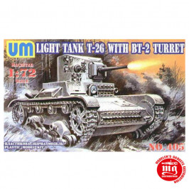 T-26 TANK WITH BT-2 TURRET AND PLASTIC TRACKS UNIMODELS 405