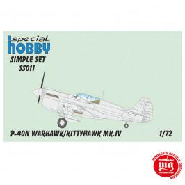 P-40N WARHAWK KITTYHAWK Mk.IV SIMPLE SET SPECIAL HOBBY SS011