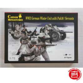 WWII GERMAN WINTER UNIT WITH PAK36 SERVANTS CAESAR MINIATURES H097