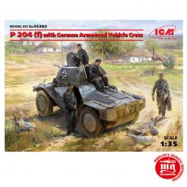 P 204 f WITH GERMAN ARMOURED VEHICLE CREW ICM 35382