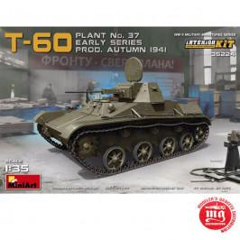 SOVIET LIGHT TANK T-60 PLANT Nr. 37 EARLY INTERIOR KIT MINIART 35224
