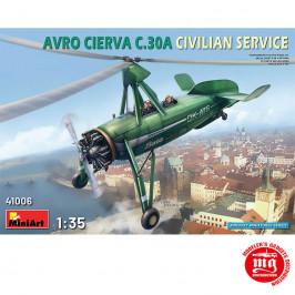AVRO CIERVA C.30A CIVILIAN SERVICE MINIART 41006
