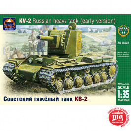 KV-2 RUSSIAN HEAVY TANK EARLY VERSION ARK MODELS AK 35022