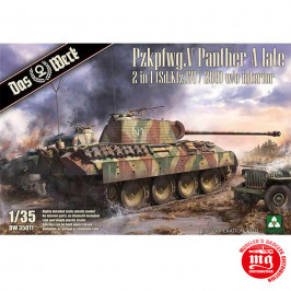 Pzkpfwg. V PANTHER A LATE 2 IN 1 Sd.Kfz.171 AND 268 W/O INTERIOR DAS WERK DW 35011