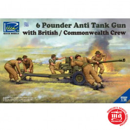 6 POUNDER ANTI TANK GUN WITH BRITISH COMMONWEALTH CREW RIICH MODELS RV35044