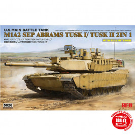 M1A2 SEP ABRAMS TUSK I/TUSK II 2 IN 1 WITH FULL INTERIOR RYEFIELD MODEL RFM5026