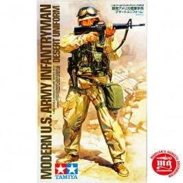 MODERN US ARMY INFANTRYMAN DESERT UNIFORM TAMIYA 36308