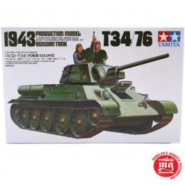 RUSSIAN TANK T-34/76 1943 PRODUCTION MODEL  TAMIYA 35059