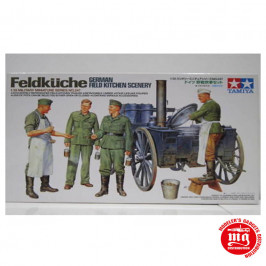 FELDKUCHE GERMAN FIELD KITCHEN SCENERY TAMIYA 35247