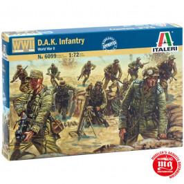 DAK INFANTRY WORLD WAR II ITALERI 6099